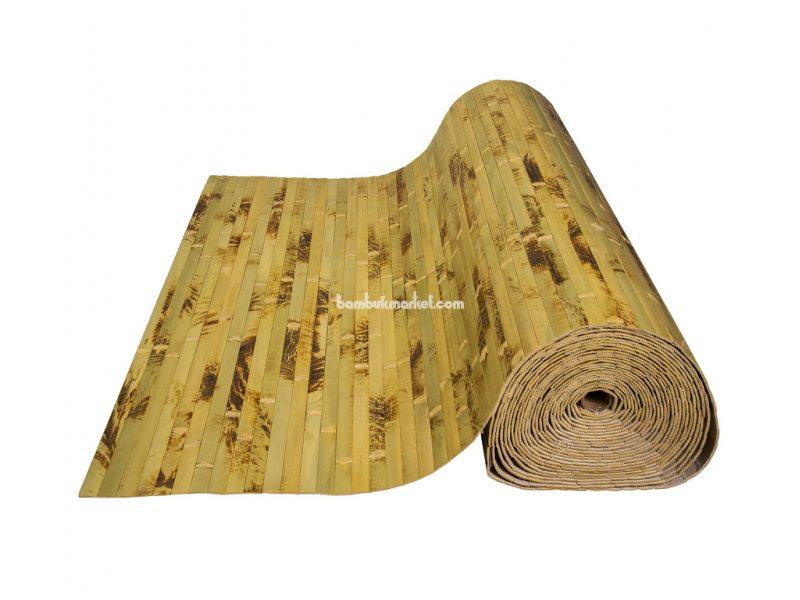 Бамбуковые обои,10х0,9м, черепаховые,нелак.,полоса 17мм    – фото 2