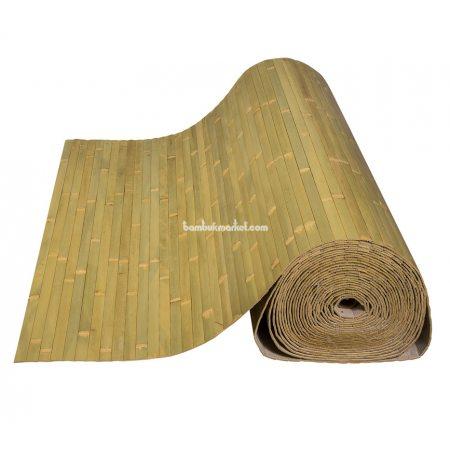 Бамбуковые обои,10х2,5м, бледно-зеленые,нелак.,полоса 17мм - фото 1