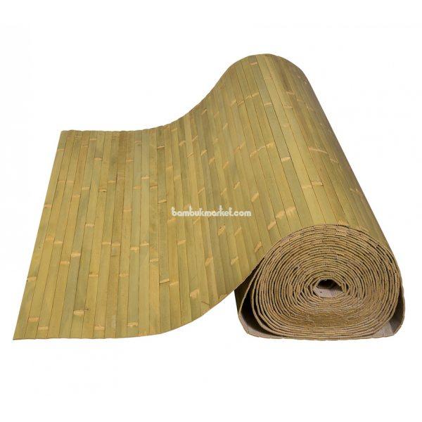 Бамбуковые обои,10х1,5м, бледно-зеленые,нелак.,полоса 17мм – фото 8