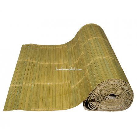 Бамбуковые обои,10х2,0м, бледно-зеленые,лак.,мат.,полоса 17мм - фото 1