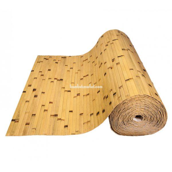 Бамбуковые обои,10х0,9м, светлые/обожженные,нелак.,полоса 17мм