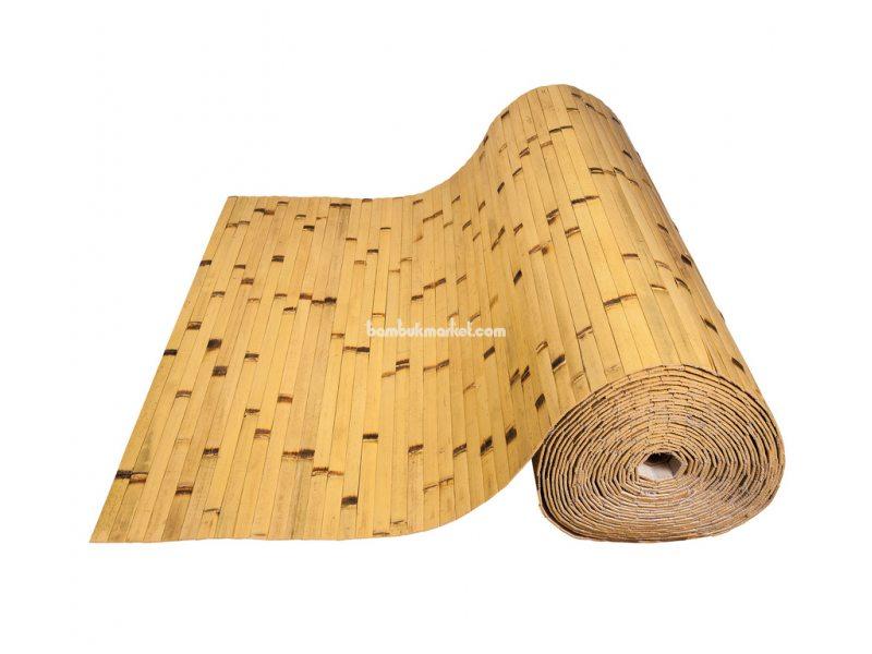 Бамбуковые обои,10х0,9м, светлые/обожженные,нелак.,полоса 17мм – фото 1