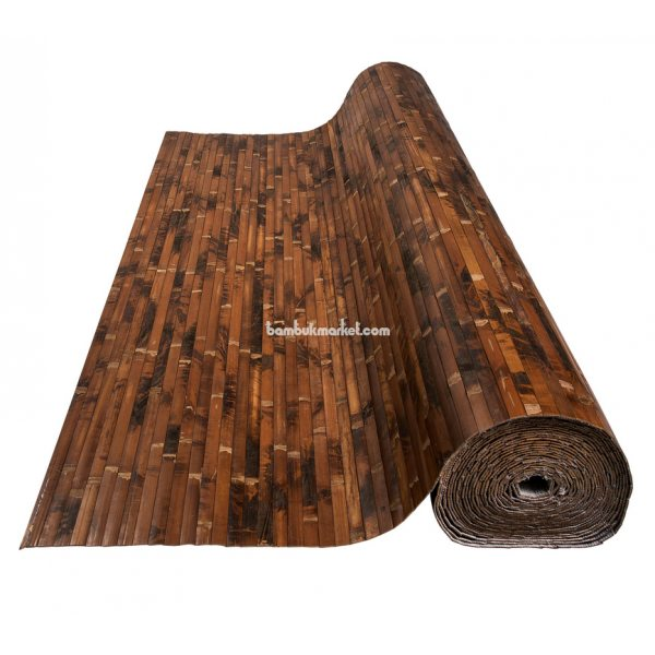 Бамбуковые обои,10х2,0м, черепаховые, темные,нелак.,полоса 17мм – фото 15