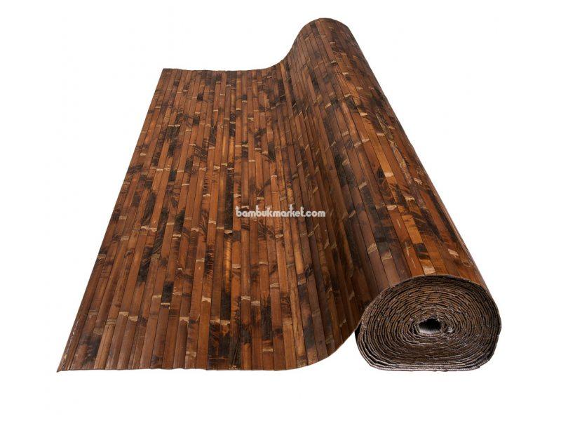 Бамбуковые обои,10х0,9м, черепаховые, темные,нелак.,полоса 17мм – фото 2