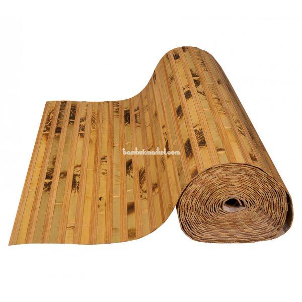 Бамбуковые обои,10х0,9м, черепаховые/темные пропиленные,нелак.,полоса 17/2х8мм