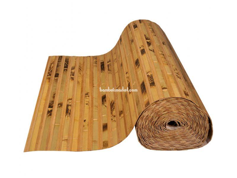 Бамбуковые обои,10х0,9м, черепаховые/темные пропиленные,нелак.,полоса 17/2х8мм – фото 2