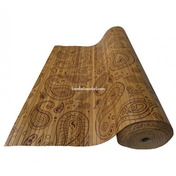 """Бамбуковые обои,10х0,9м, темные,нелак.,полоса 17мм, """"Турецкий огурец"""""""
