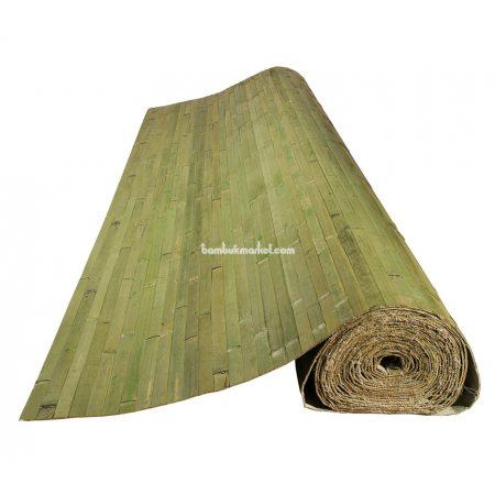 Бамбуковые обои,10х2,0м, темно-зеленые,нелак.,полоса 25мм - фото 1
