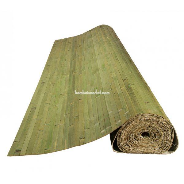 Бамбуковые обои,10х2,0м, темно-зеленые,нелак.,полоса 25мм