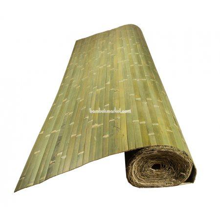 Бамбуковые обои,10х2,0м, зеленые,нелак.,полоса 25мм - фото 1