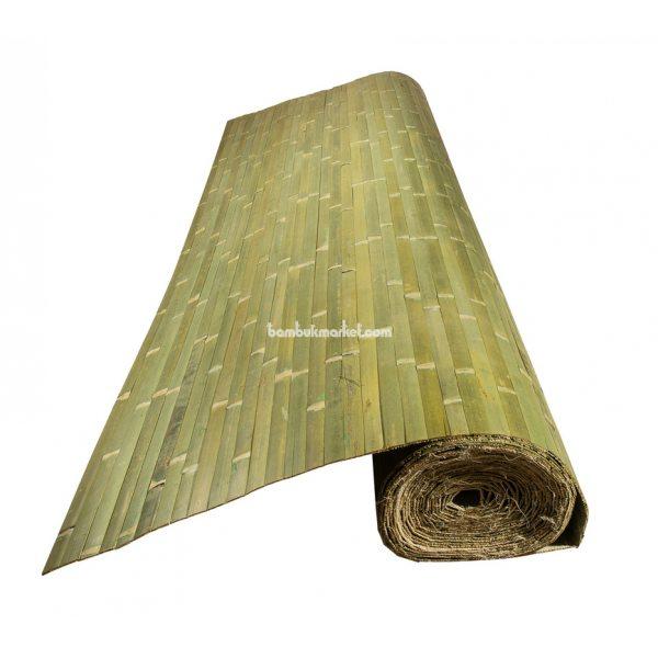 Бамбуковые обои,10х2,0м, зеленые,нелак.,полоса 25мм