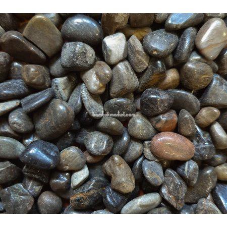 Галька, 0,5х0,8 см, черная - фото 1