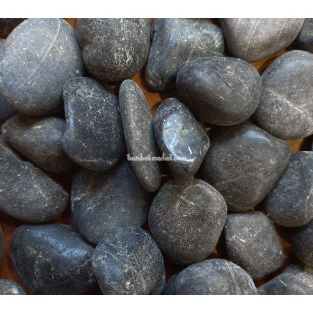 Галька, 1х2 см, черная - фото 1