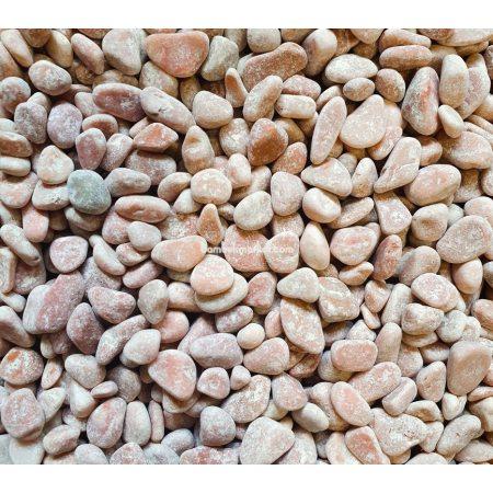 Крошка мраморная, 0,5х0,8 см, бело-розовая - фото 1
