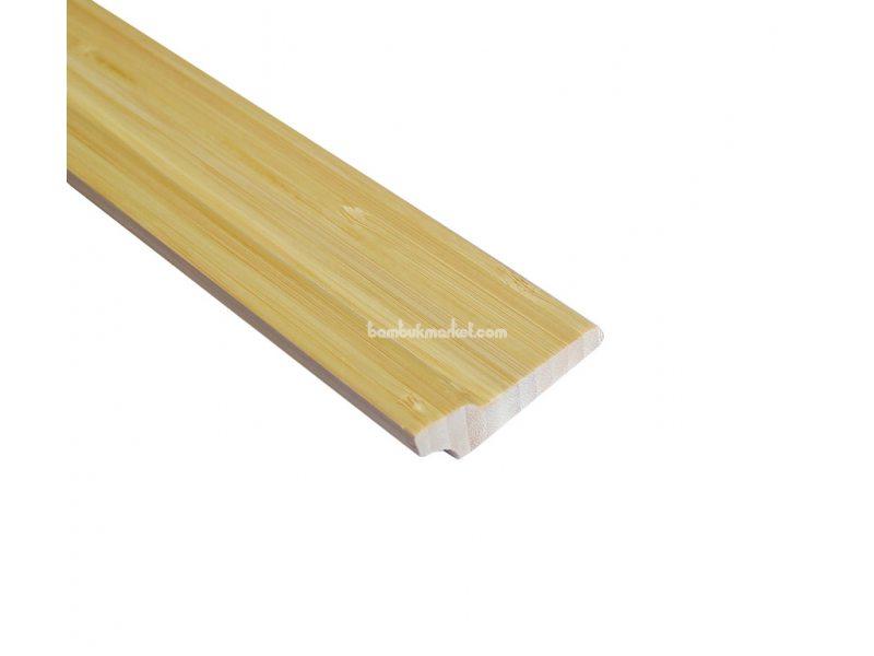 Бамбуковый плинтус, светлый – фото 1