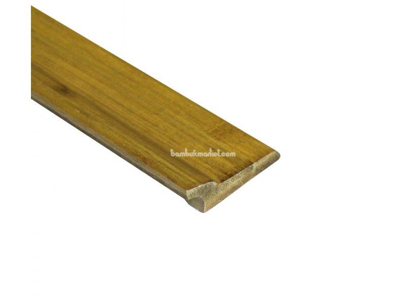 Бамбуковый плинтус, светло-бежевый  – фото 1