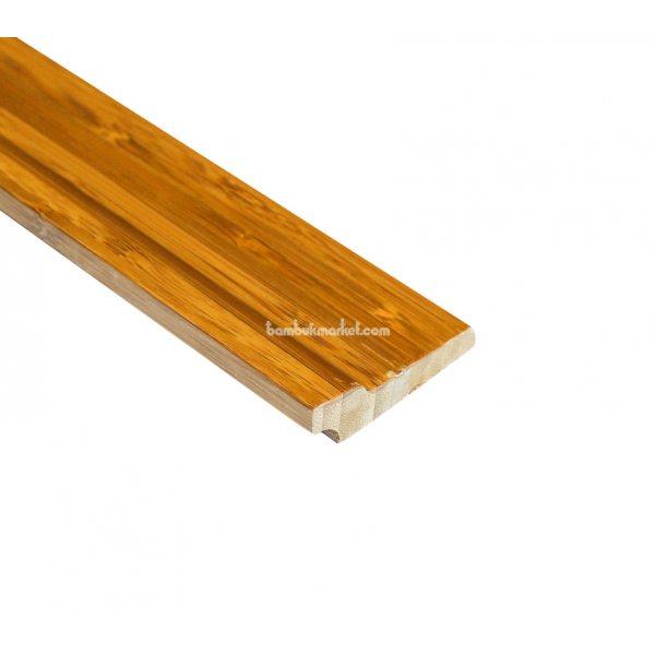 Бамбуковый плинтус, темный