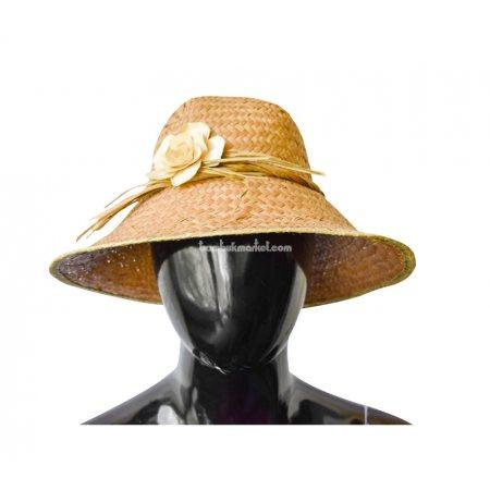 Соломенная шляпа с цветком  - фото 1